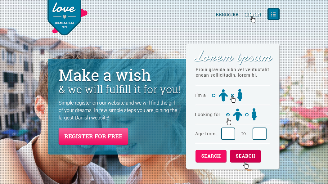 1. Dating Site Concept